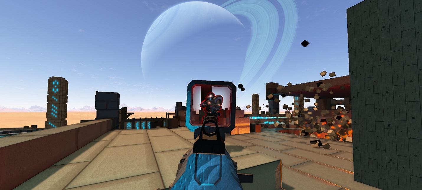 Синтез Minecraft и Call of Duty в трейлере бесплатного мультиплеерного шутера Sector's Edge