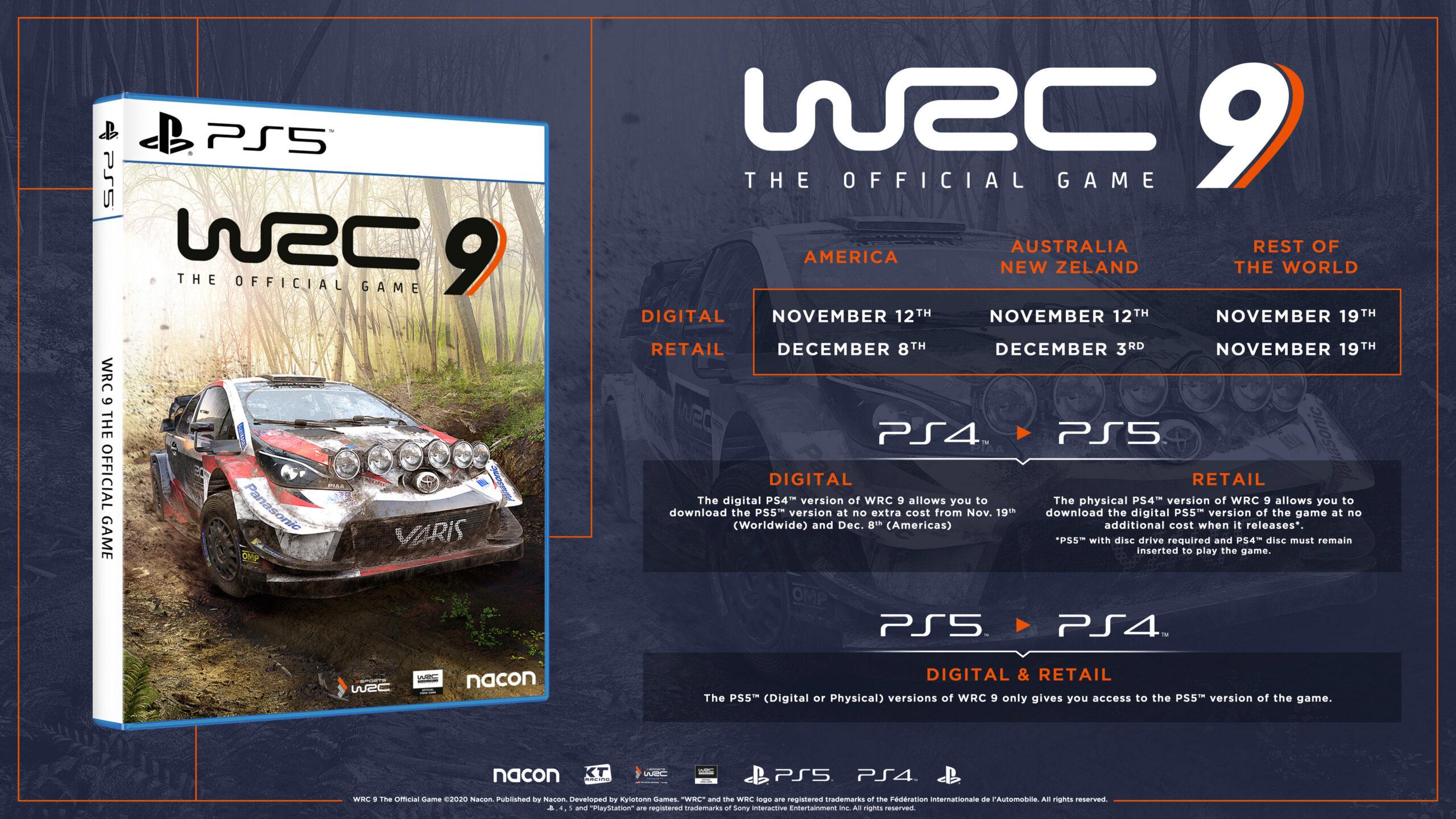 WRC 9 выйдет на PS5 одновременно со стартом консоли