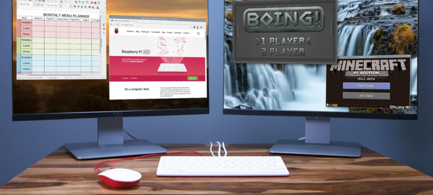 Raspberry представила Pi 400  компьютер в клавиатуре