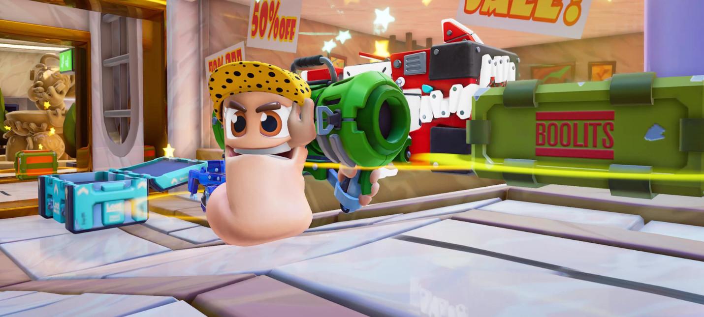 Стартовала открытая кроссплей-бета Worms Rumble