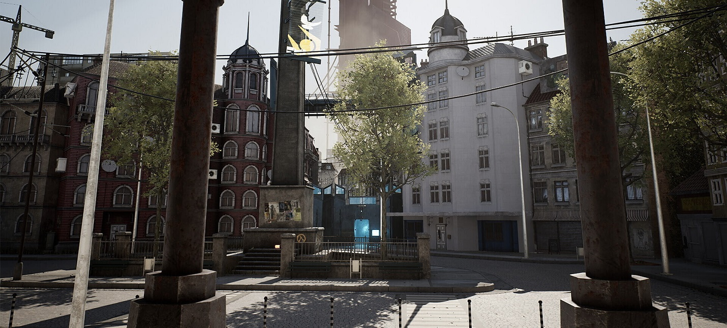 3D-художник обновил дизайн площади у вокзала Сити-17 в Half-Life 2