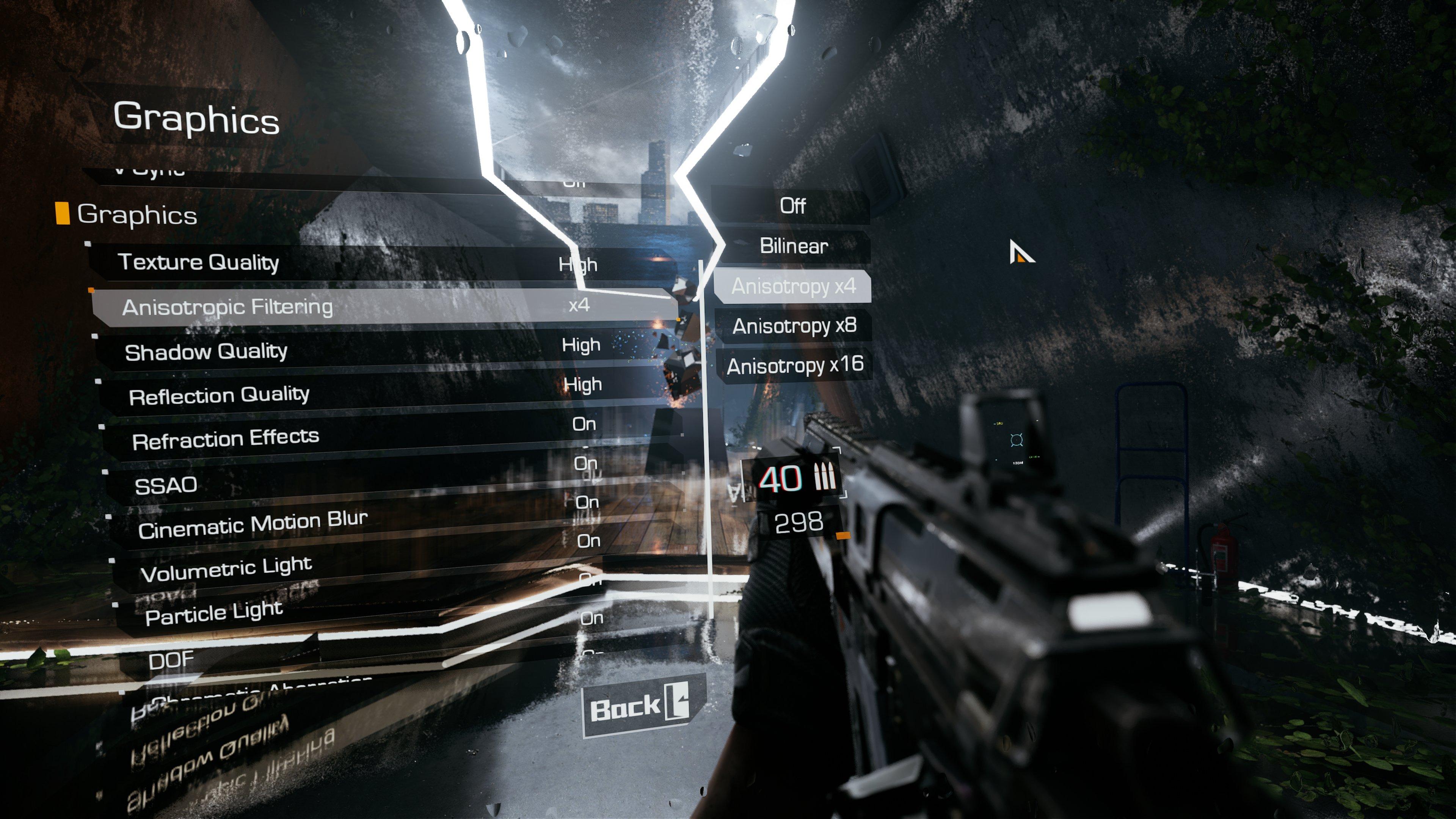 В Bright Memory на Xbox Series X есть графические настройки, аналогичные PC-версии
