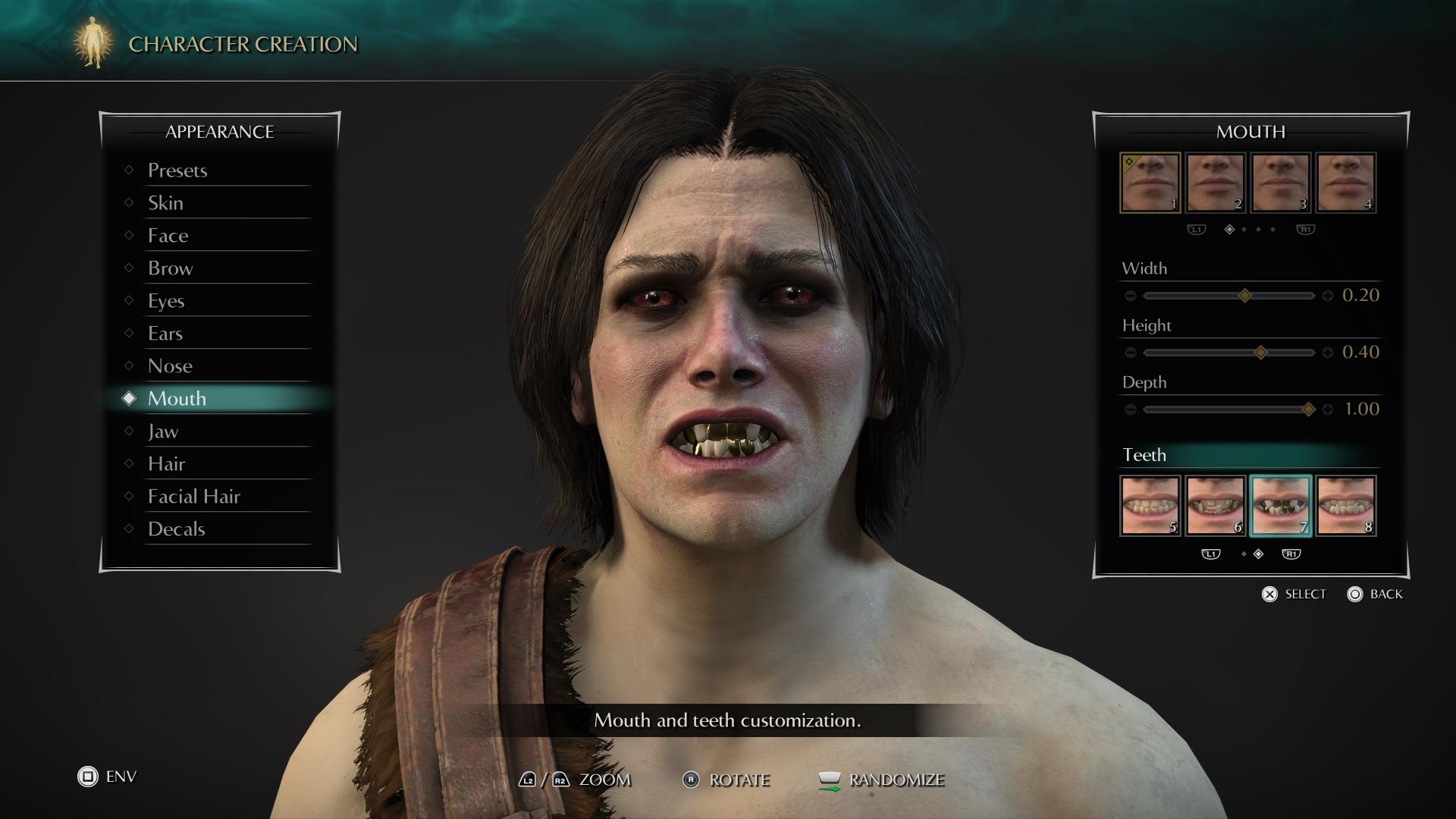 Золотые, гнилые, акульи и другие зубные опции для персонажа в Demon's Souls