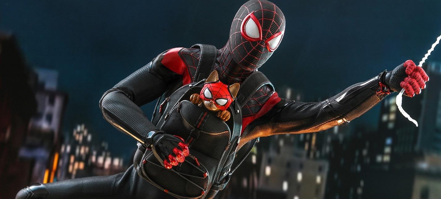 Представлена фигурка Майлза Моралеса с котом-пауком из Spider-Man: Miles Morales