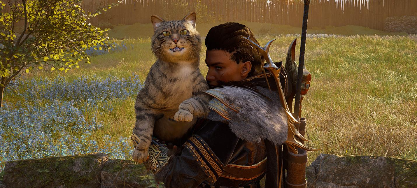 Посмотрите на этих гигантских котов из Assassins Creed Valhalla  они превосходны