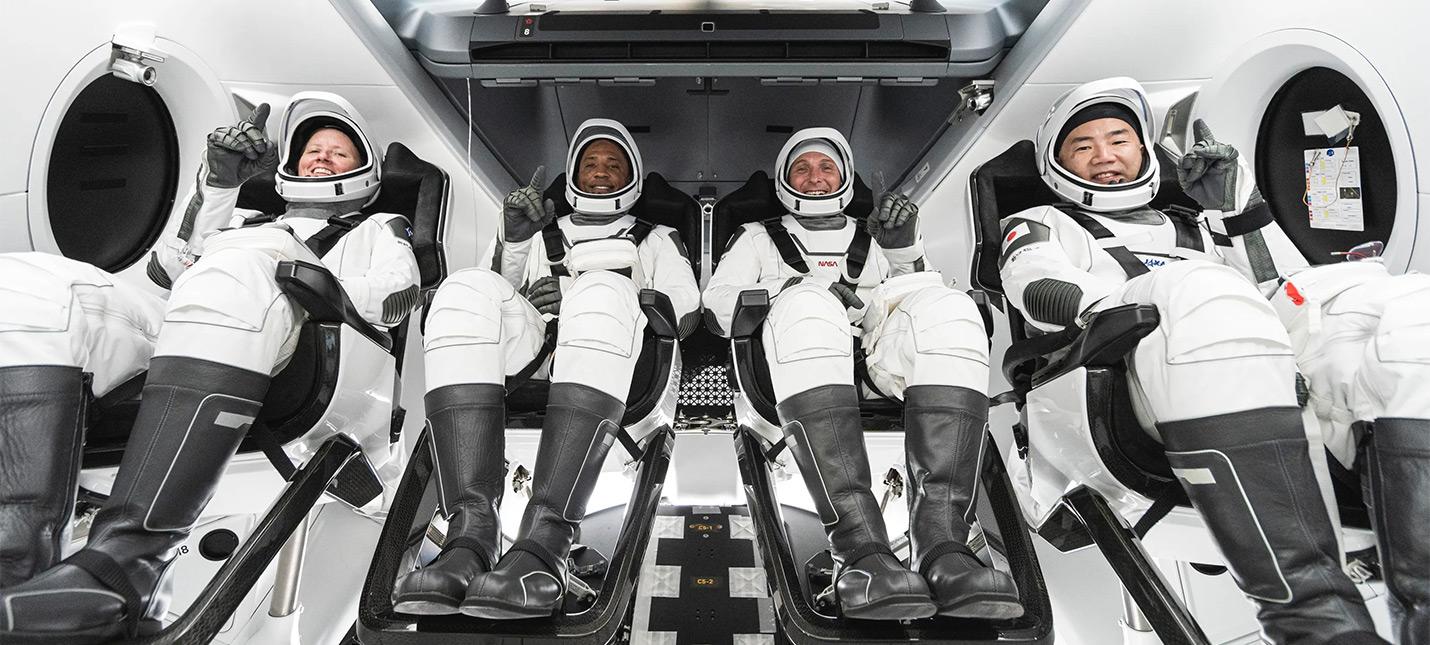 Прямой эфир с запуска миссии SpaceX Crew Dragon  на борту 4 астронавта