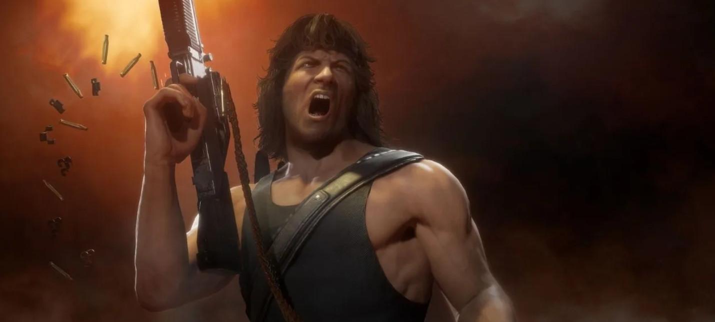 Рэмбо против Терминатора в новом геймплее Mortal Kombat 11