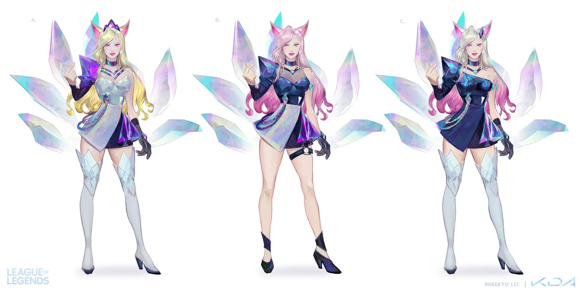 Концепт-арты группы K/DA из League Of Legends