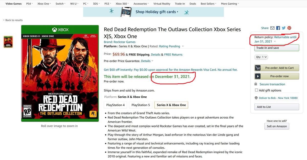 Опровергнуты слухи про ремастер Red Dead Redemption