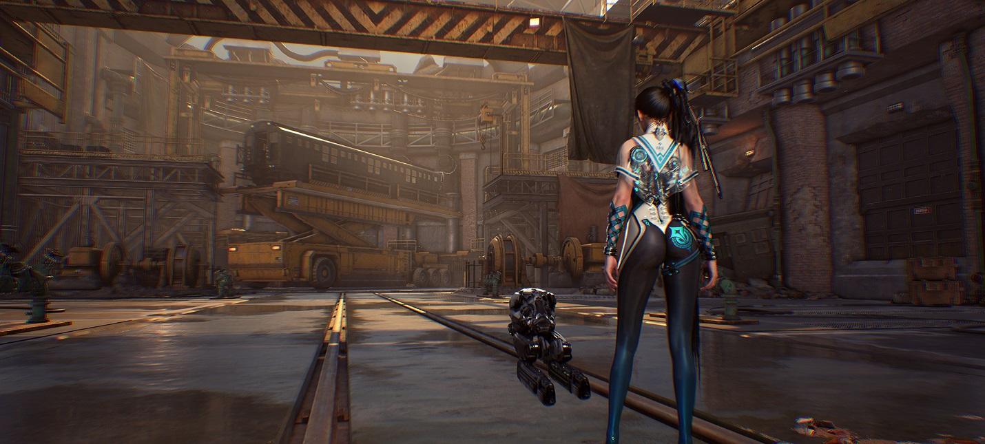 Дебютный геймплей Project EVE  корейского AAA-экшена, похожего на NieR Automata