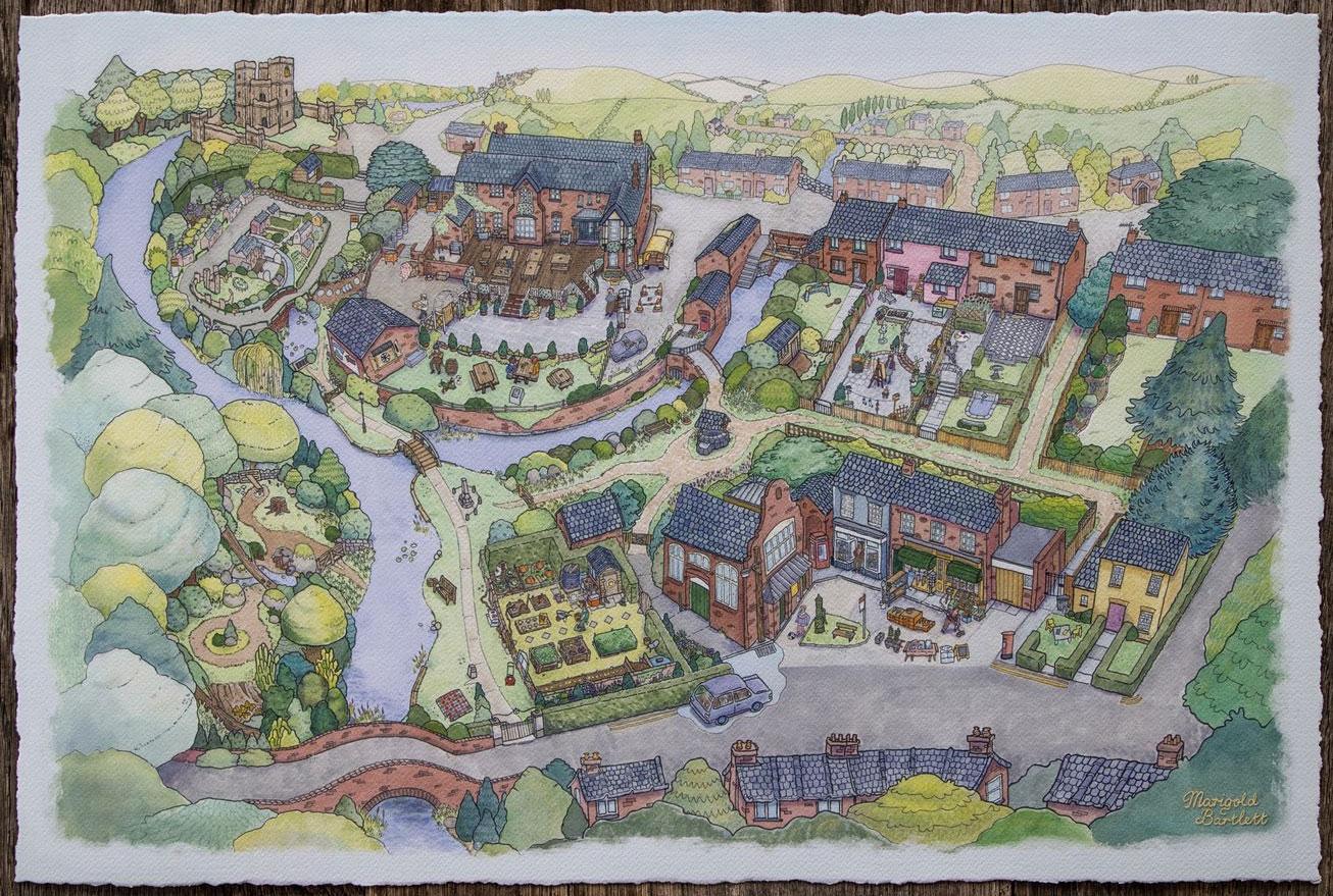 В продажу поступила нарисованная карта из Untitled Goose Game