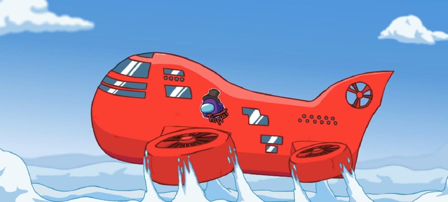 Выживание на летающем корабле в трейлере новой карты Among Us