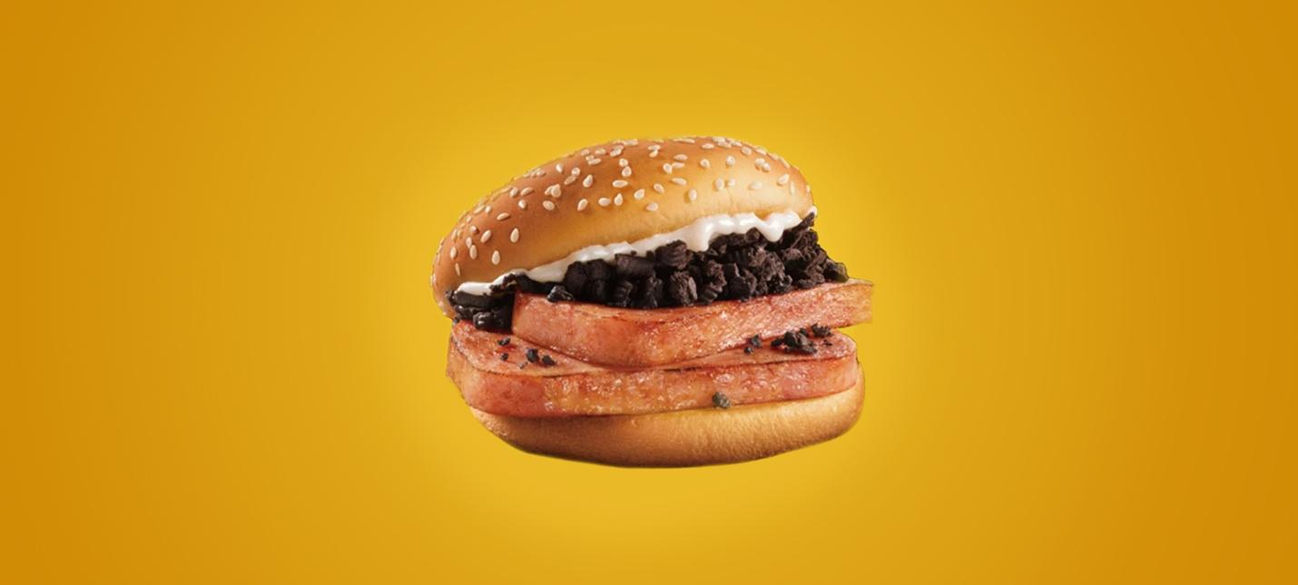 McDonalds выпустила лимитированный бургер с консервированной свининой и Oreo