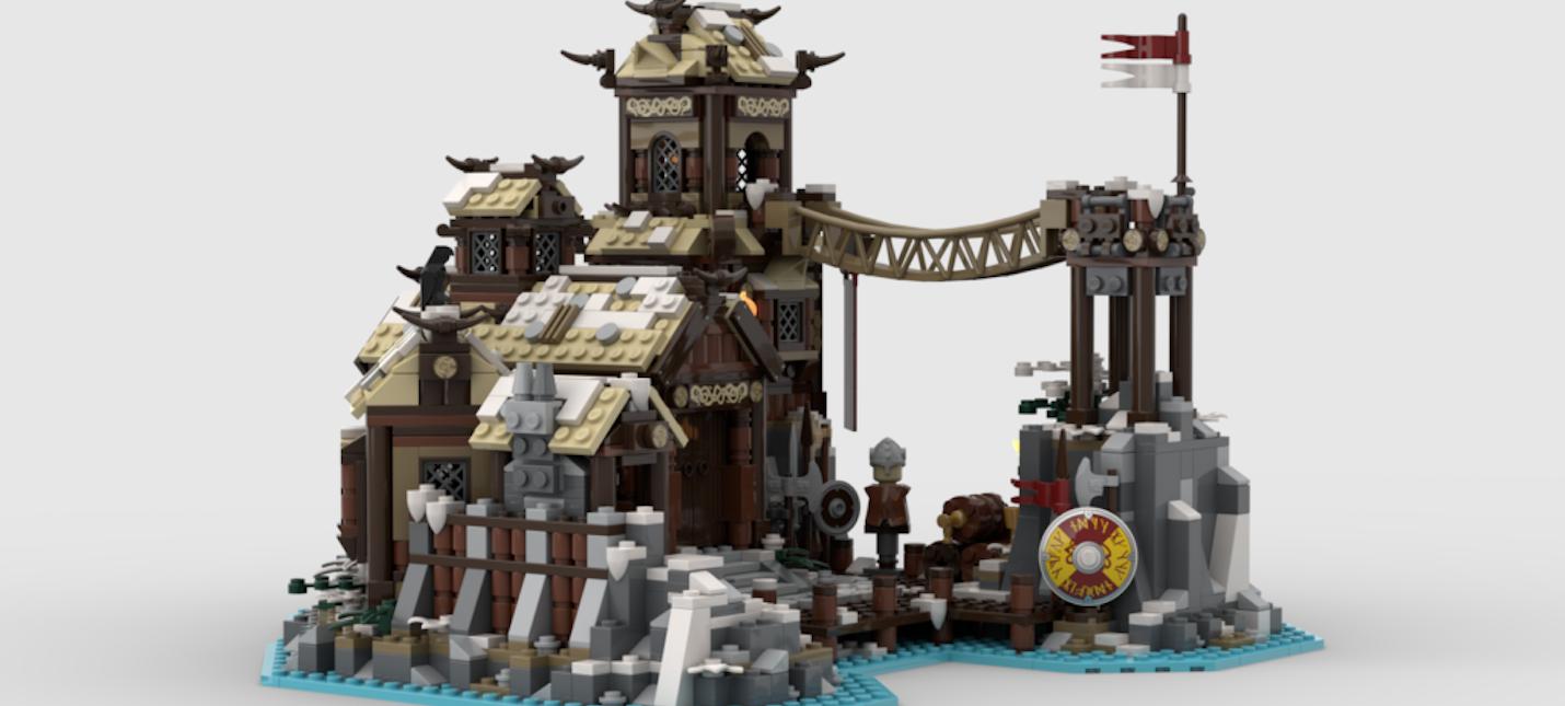 На LEGO Ideas одобрили набор с деревней викингов