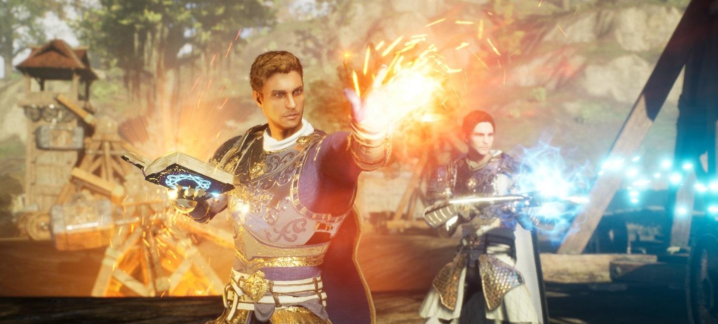 Способности мага и битва с боссом  геймплей MMORPG Ashes of Creation