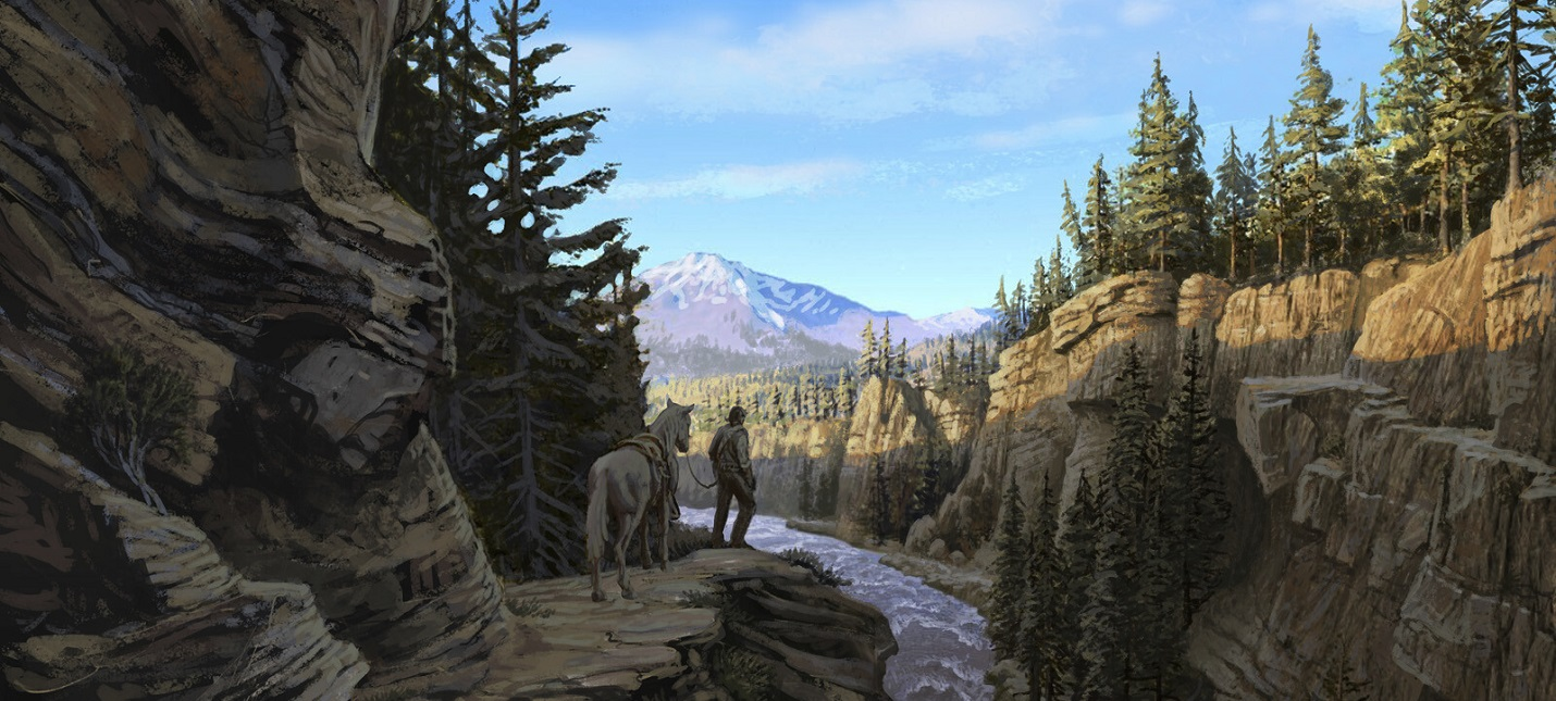 Новые концепт-арты Red Dead Redemption 2 ранний образ Артура Моргана и Дикий Запад