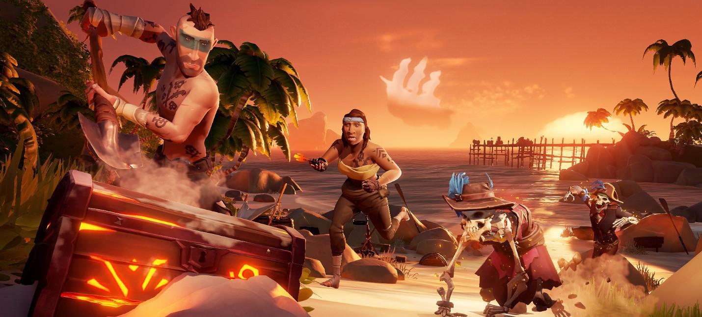 Количество единовременных игроков Sea of Thieves в Steam значительно увеличилось