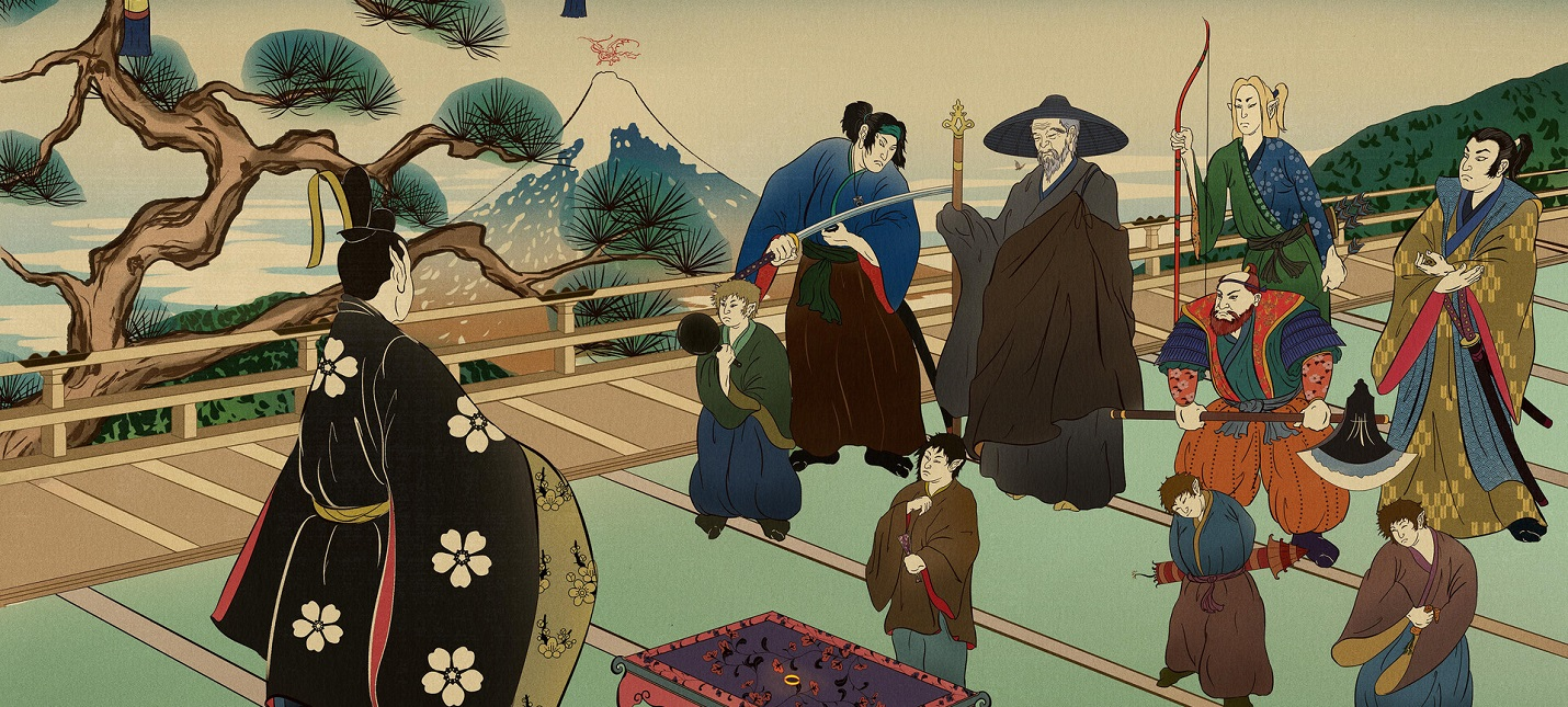 Как Властелин колец мог выглядеть в стиле японской живописи
