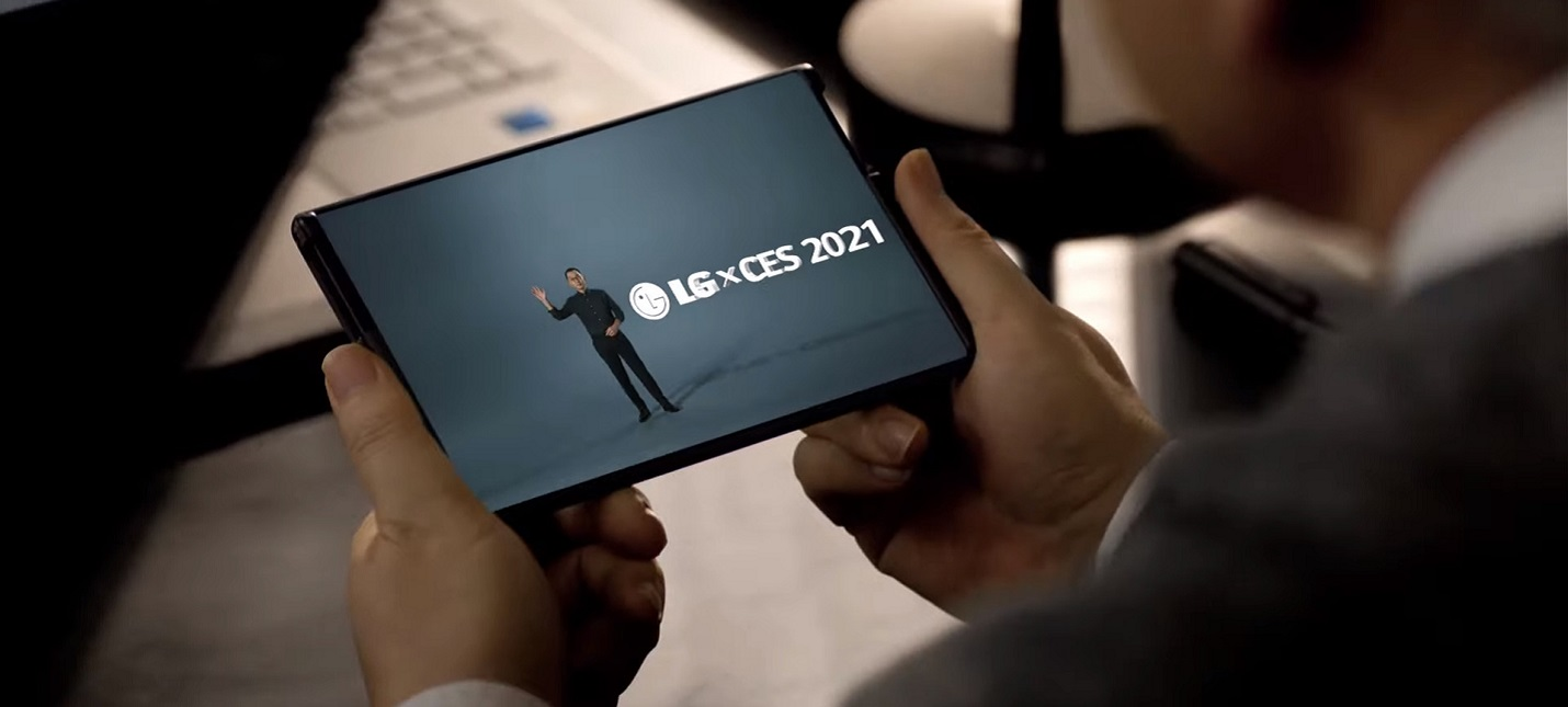 CES 2021 LG показала смартфон с раздвижным экраном и небольшие OLED-панели
