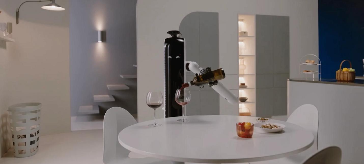 CES 2021 Samsung показала робота, который прибирается и наливает вино