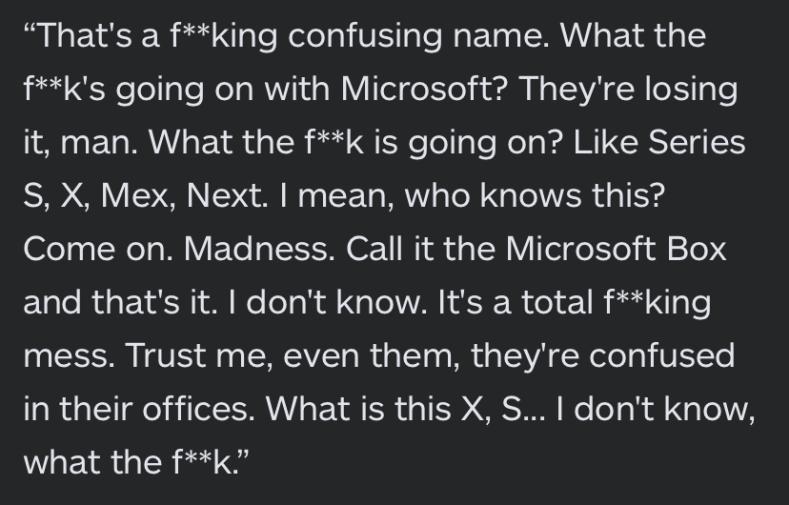 Юзеф Фарес обругал новое поколение Xbox за бестолковое название