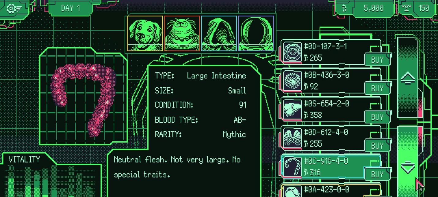 Все прелести межзвездного черного рынка органов в трейлере Space Warlord Organ Trading Simulator