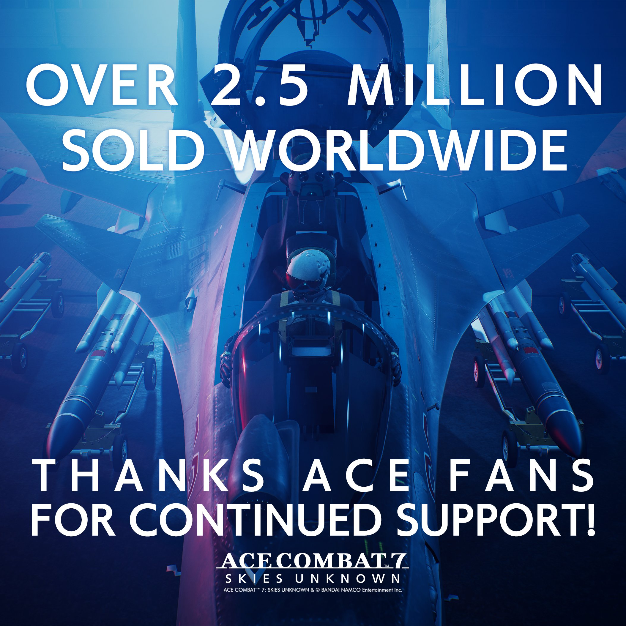 Продажи Ace Combat 7 достигли 2.5 миллиона копий