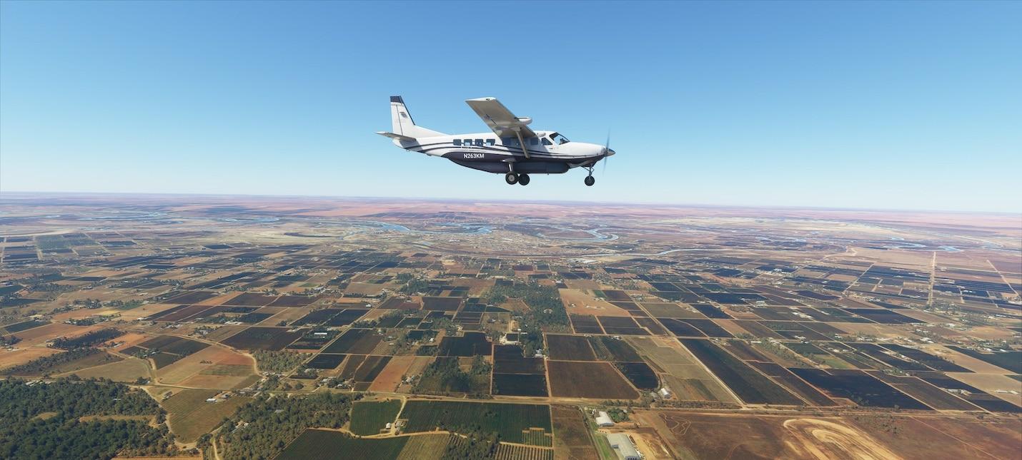 Игрок пролетел над дворцом Путина в Microsoft Flight Simulator