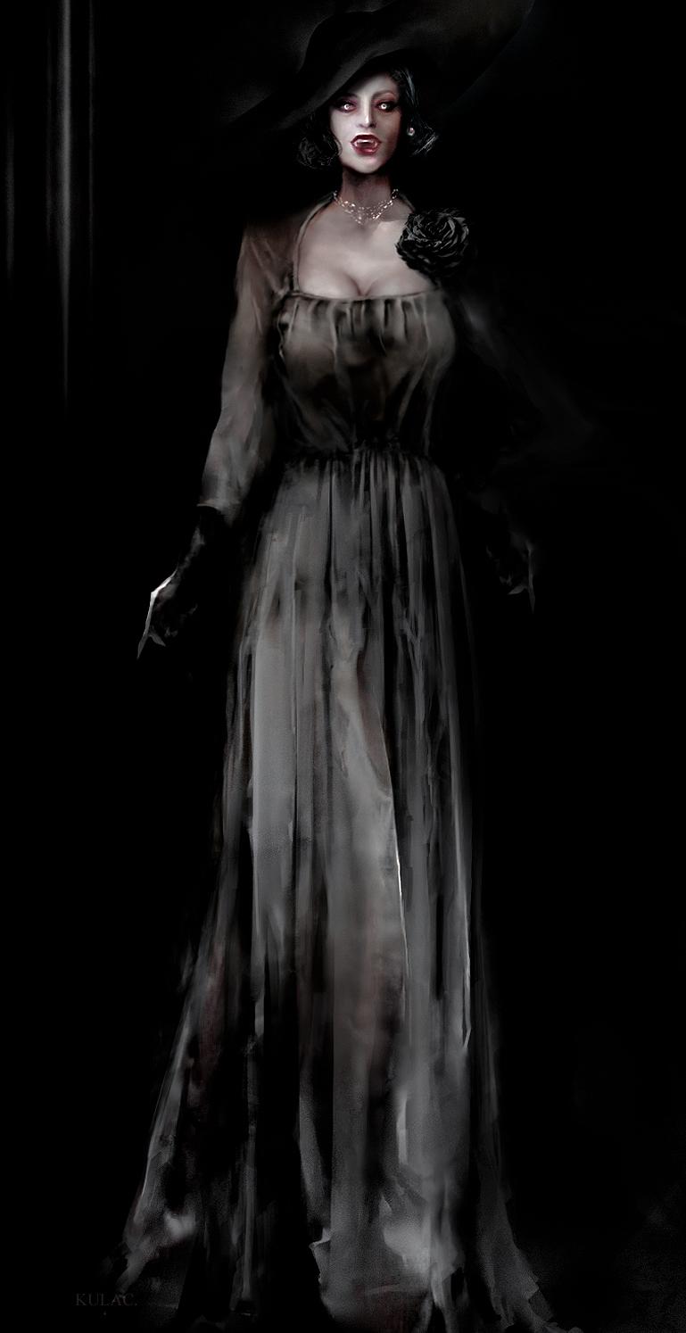 Первые арты, мемы и косплей грудастой вампирши из Resident Evil Village