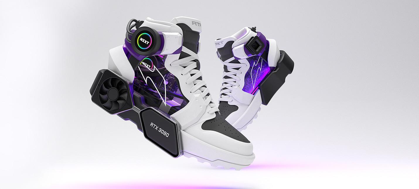 Анонсированы кроссовки в стиле RTX 3080 с кулером и экраном