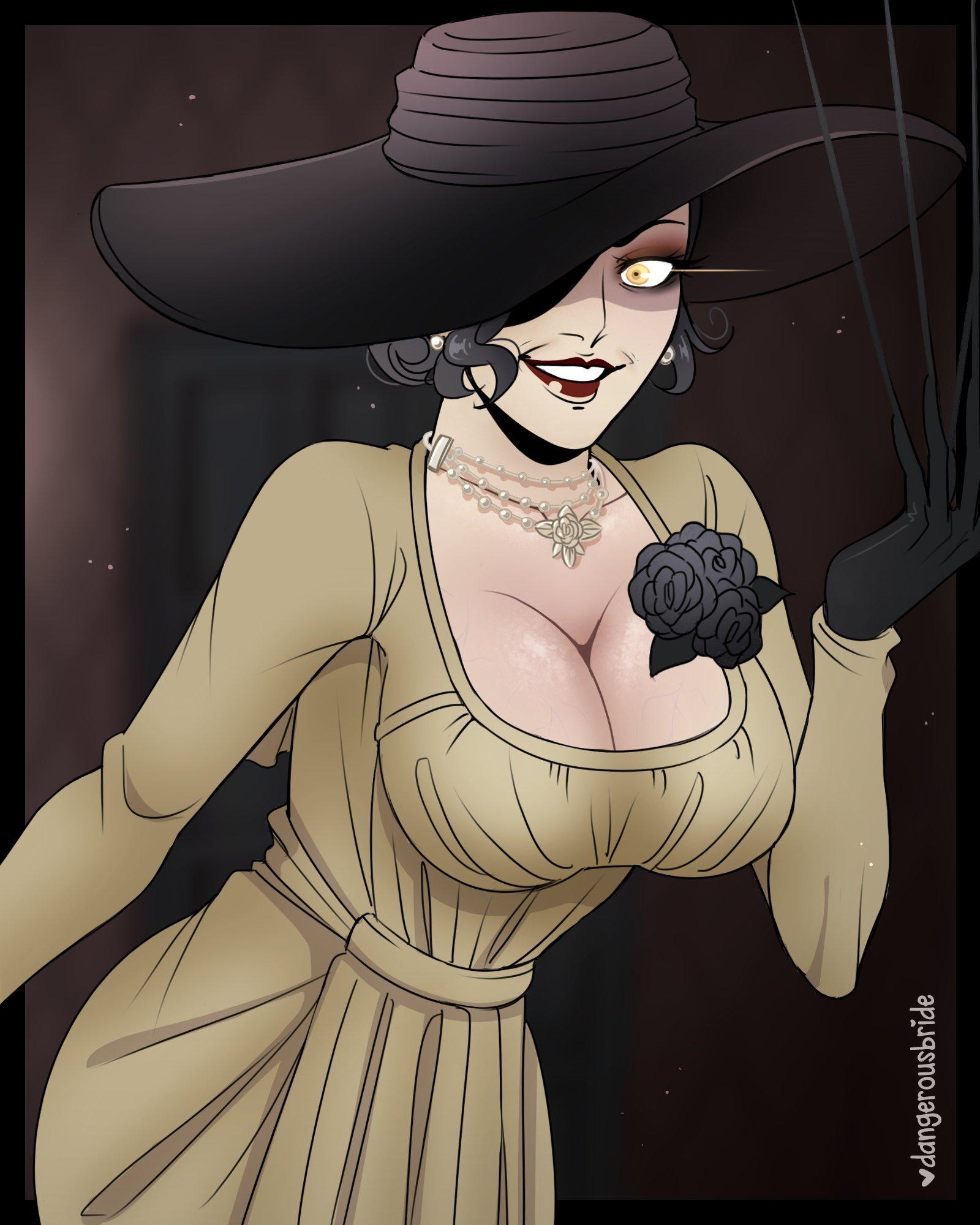 Новые арты леди Димитреску из Resident Evil Village и первый косплей ее дочки