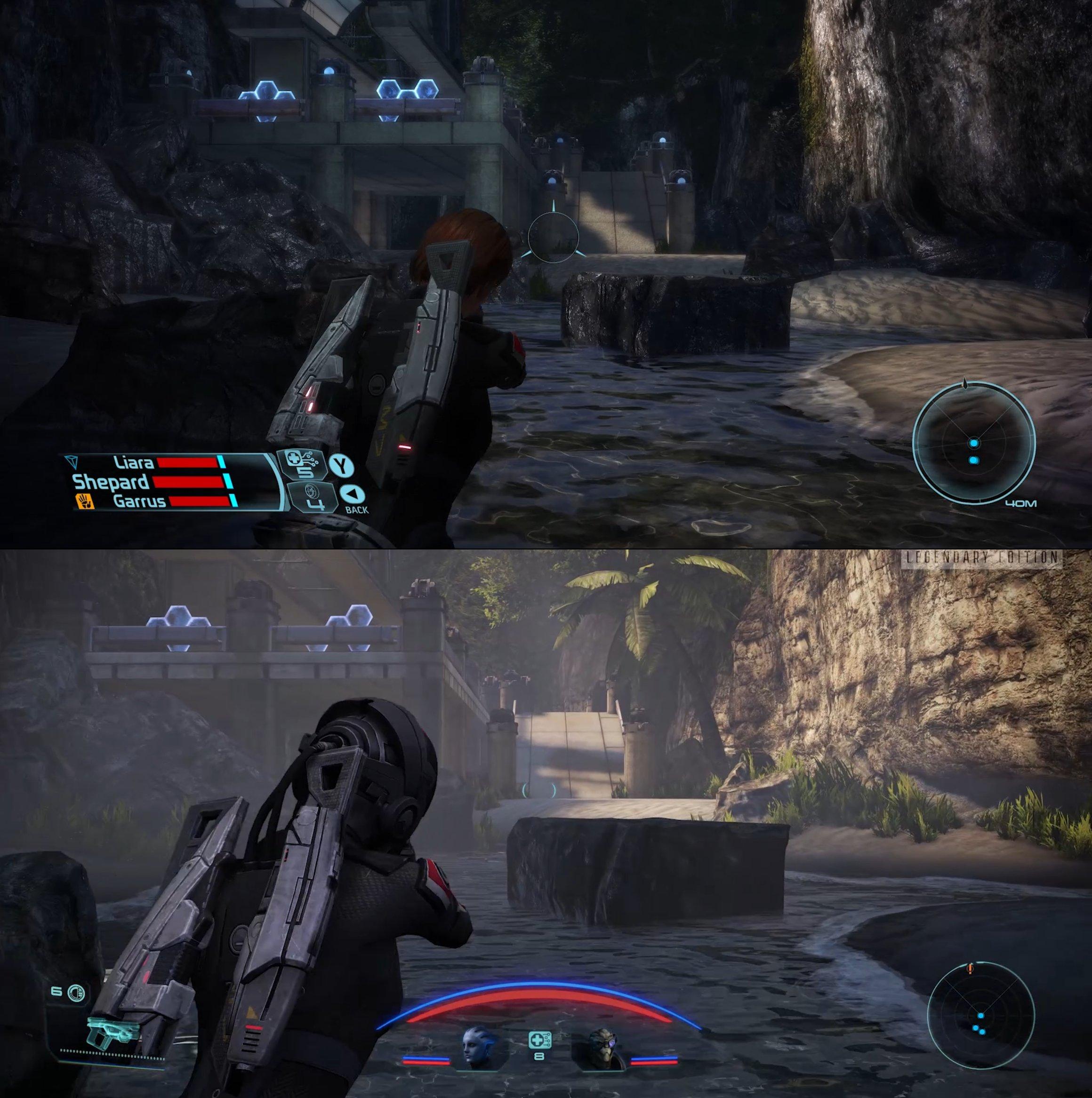 Скриншоты сравнения ремастера Mass Effect и оригинальных игр