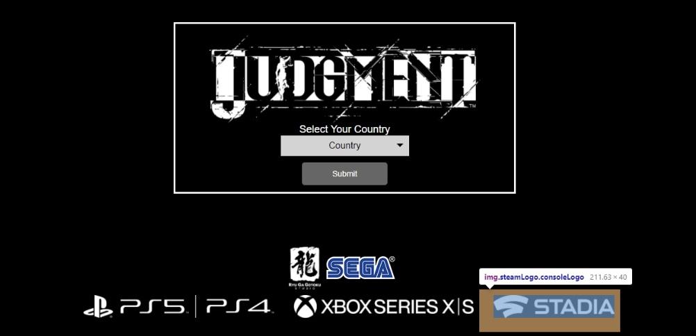 На сайте переиздания Judgment нашли упоминание Steam