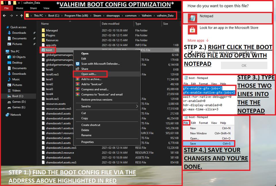 При помощи этого исправления файла можно повысить частоту кадров в Valheim на 30 fps