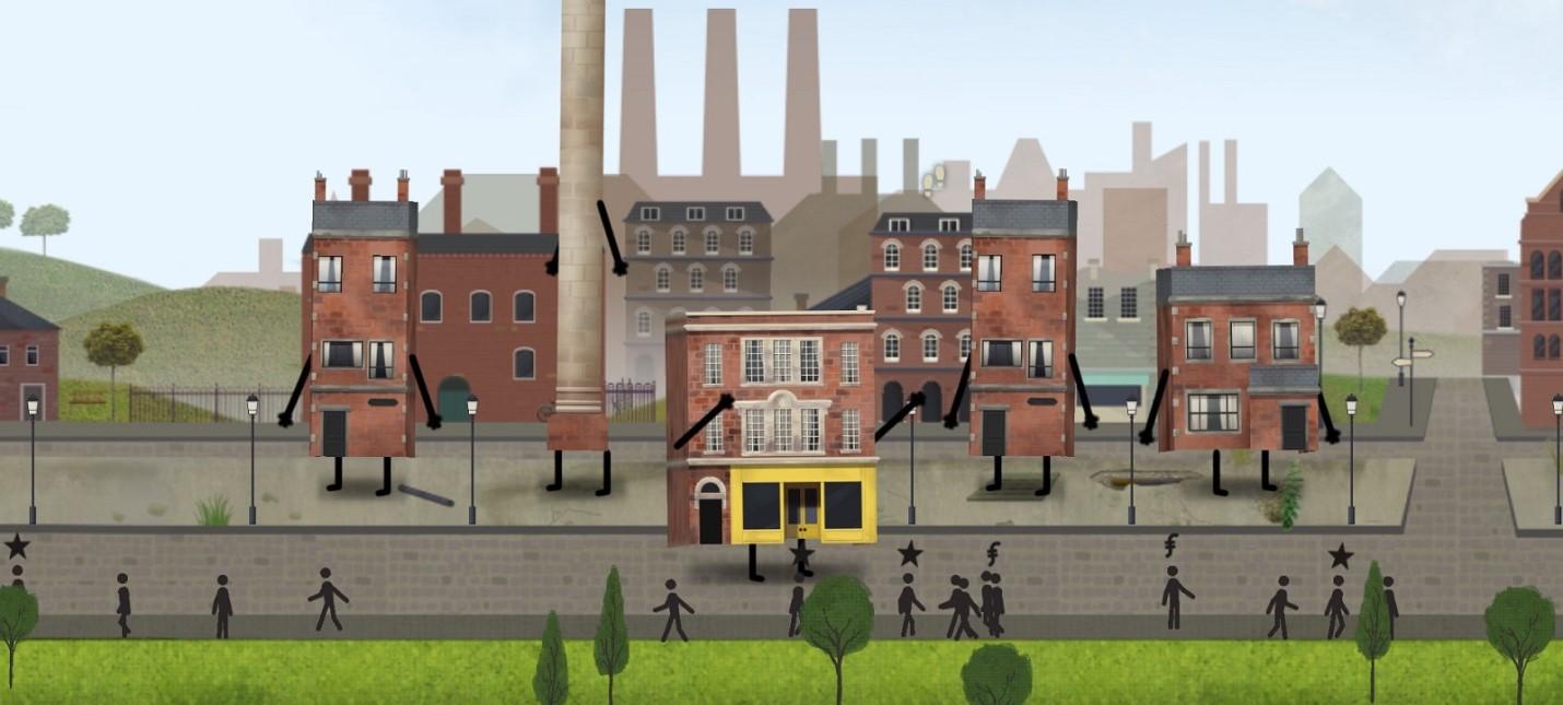 Живые здания в трейлере необычного градостроительного симулятора Buildings Have Feelings Too!