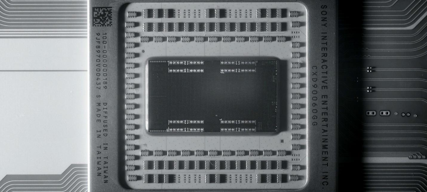 Первое фото вскрытого чипа PS5 под микроскопом