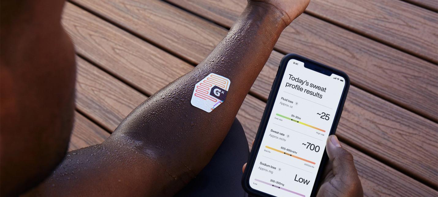 Gatorade выпустила одноразовый потный пластырь, чтобы узнавать сколько Gatorade надо выпить