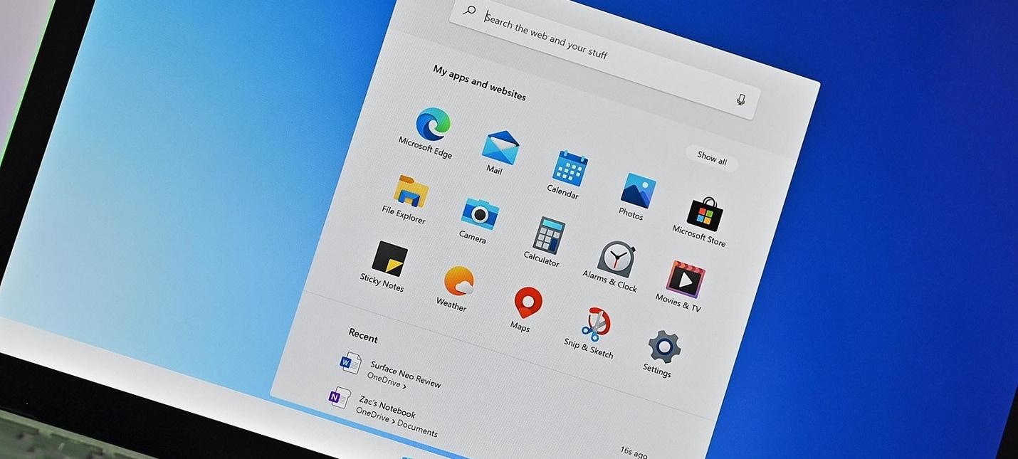 СМИ Windows 10X запустится в конце 2021 года
