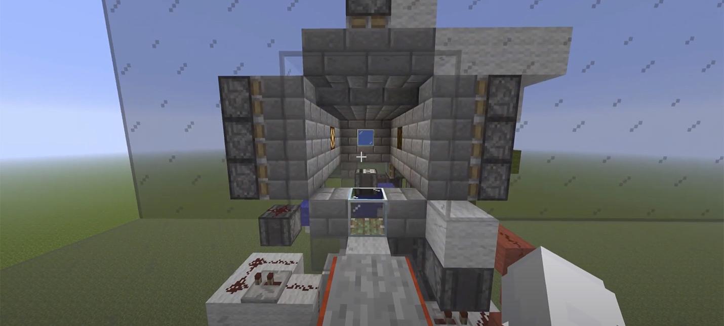 Игрок Minecraft построил рабочий воздушный шлюз для подводной базы — получилось сложно