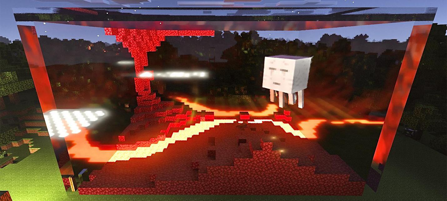 Один фанат Minecraft построил гигантский террариум и посадил в него Гаста