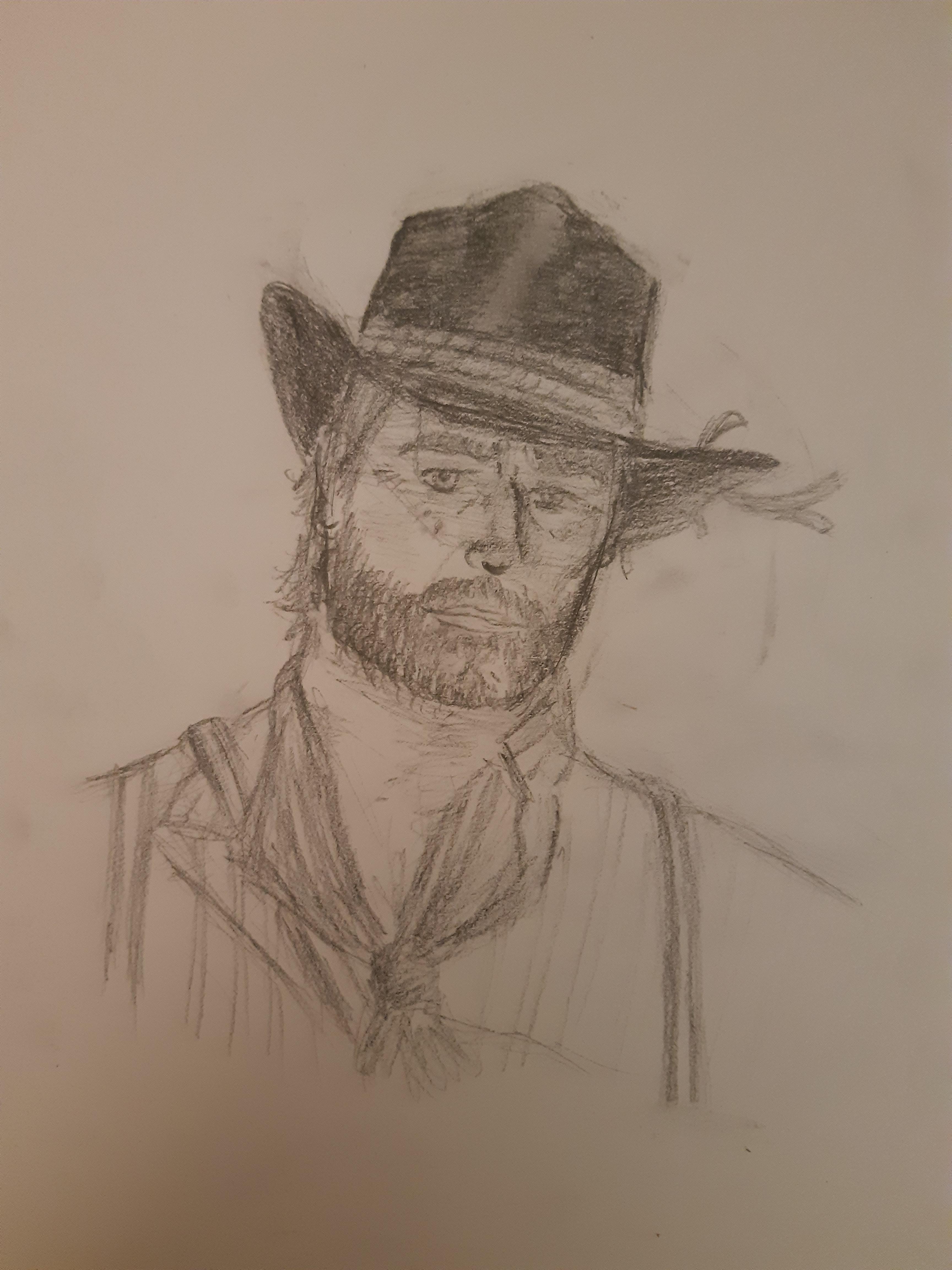 Игрок Red Dead Redemption 2 делает зарисовки мест из игры в стиле рисунков Артура