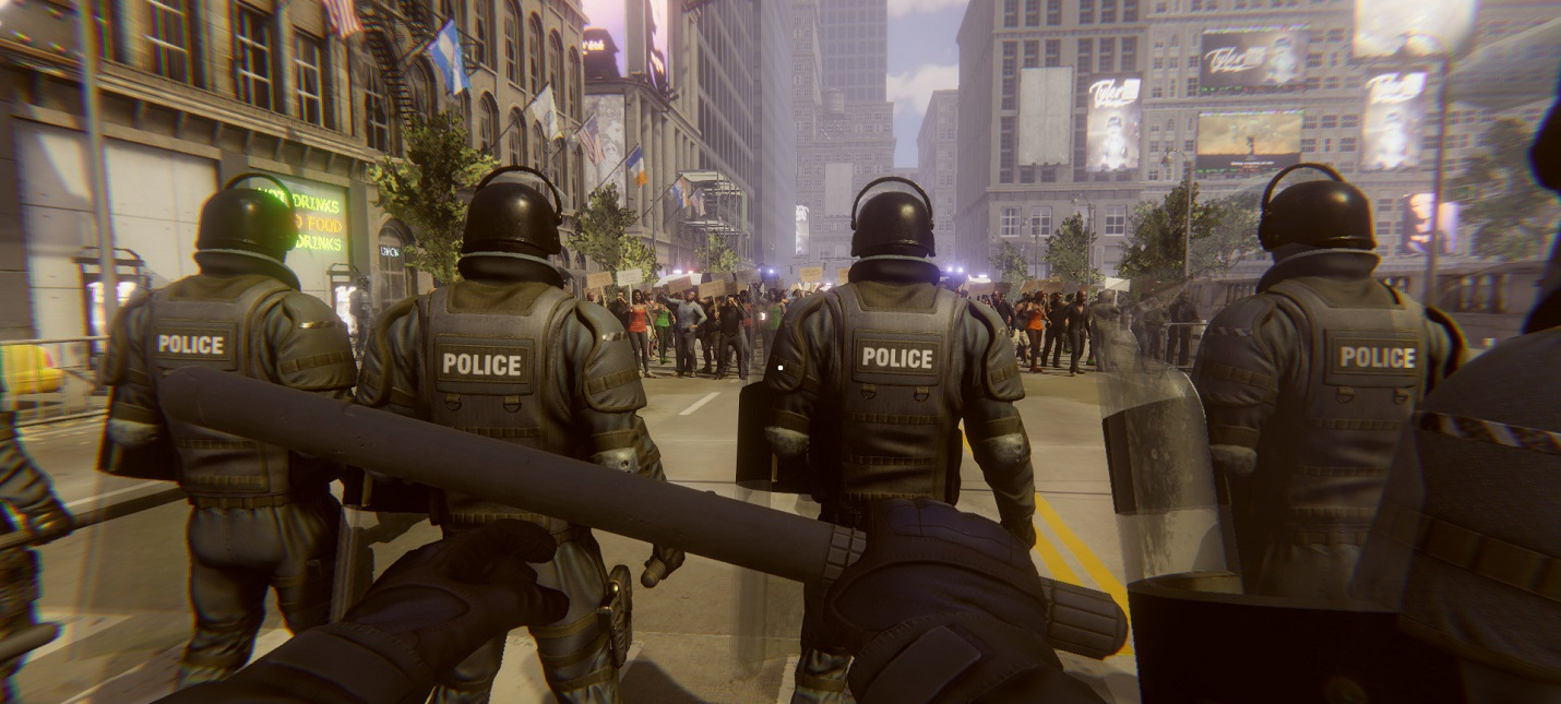 Водяные пушки, подавление протестующих и молотовы в трейлере симулятора Riot Control Simulator