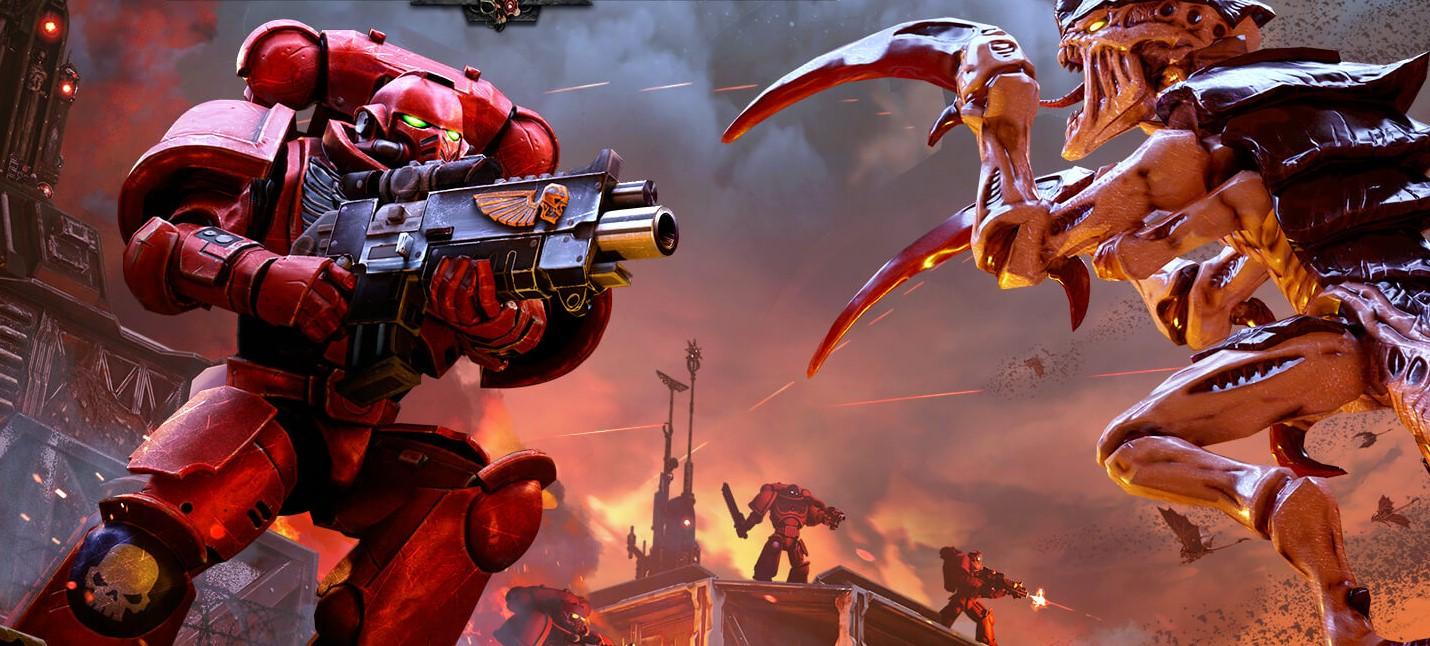 Кровавые ангелы против тиранидов в геймплее Warhammer 40K: Battlesector