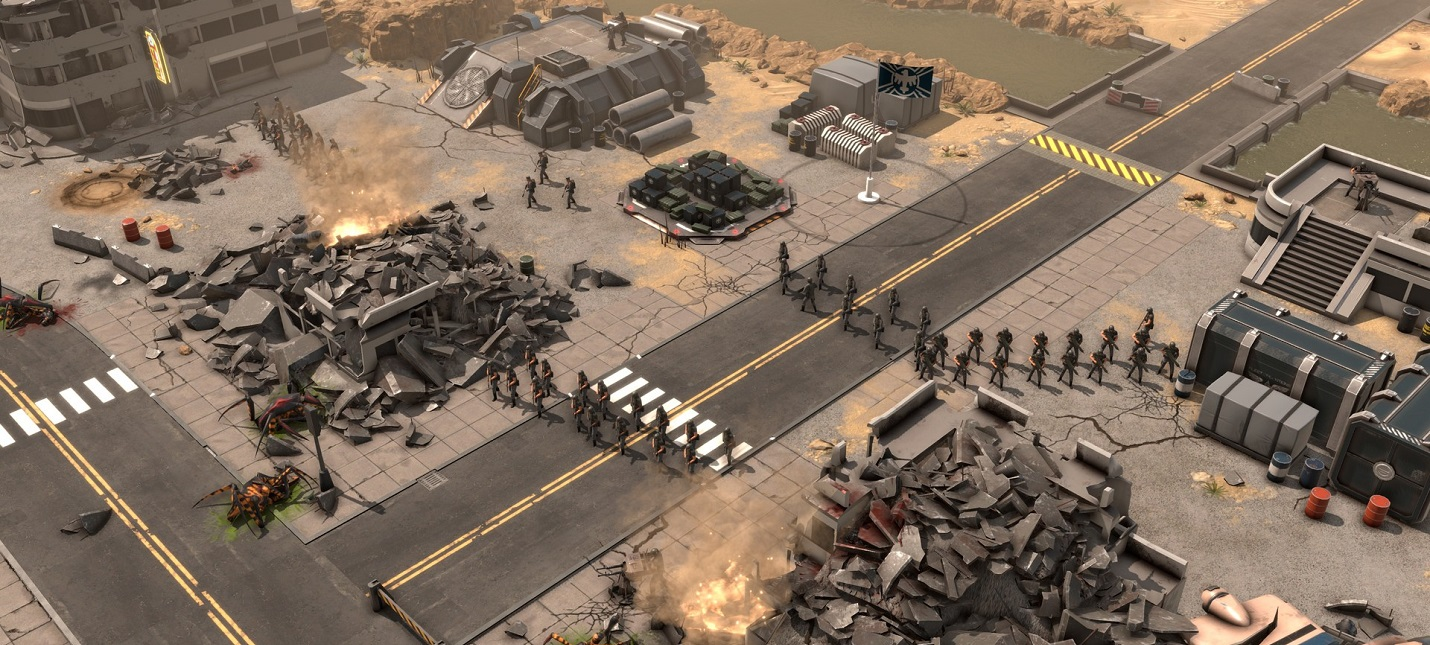 Пехотинцы против арахнидов в геймплейном трейлере сурвайвал стратегии Starship Troopers