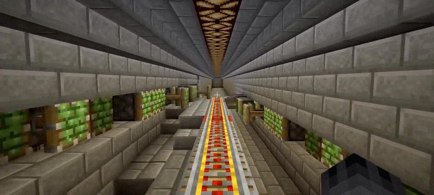 Игрок Minecraft создал самособирающуюся железную дорогу
