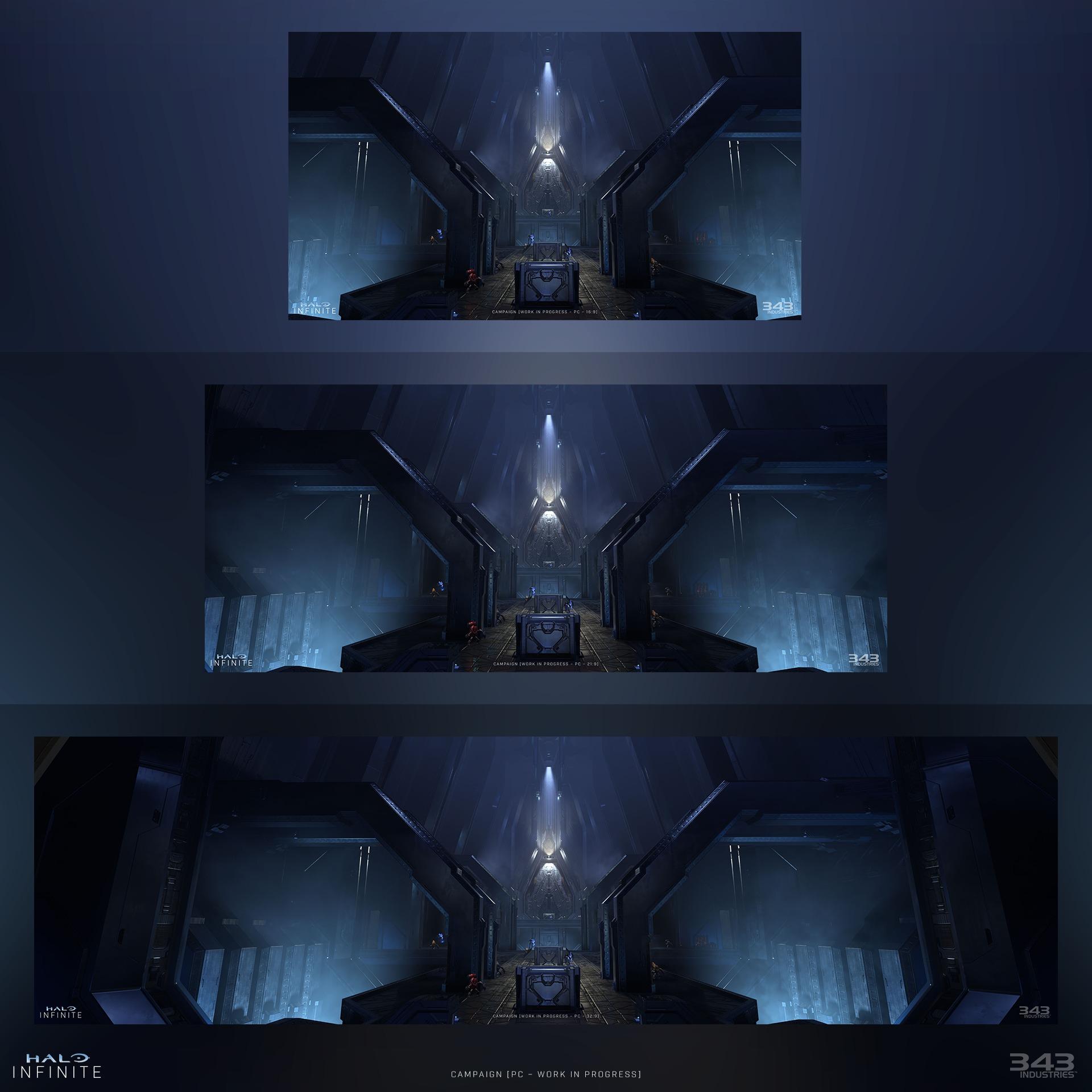 Ультраширокие скриншоты Halo Infinite и детали PC-версии шутера
