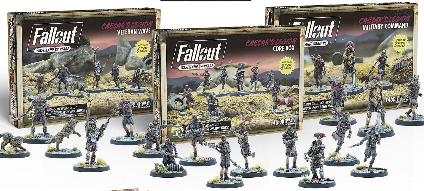 В настолку Fallout Wasteland Warfare добавят НКР и Легион Цезаря