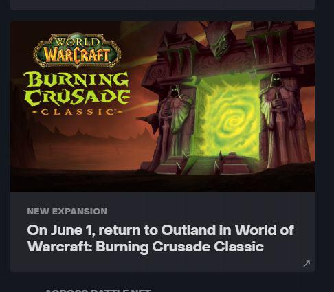 World of Warcraft: Burning Crusade Classic может выйти 1 июня