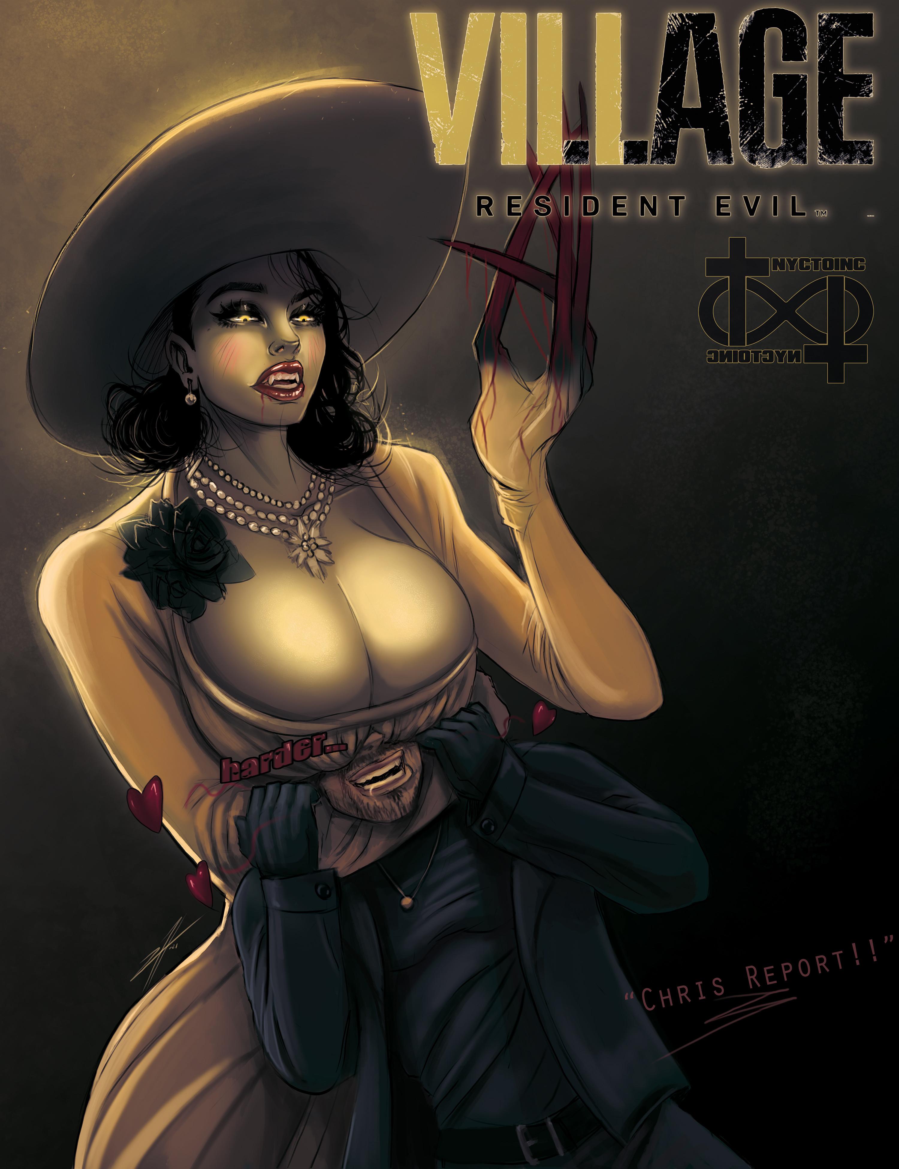 Милфология Леди Димитреску — 50 фанатских артов Resident Evil Village