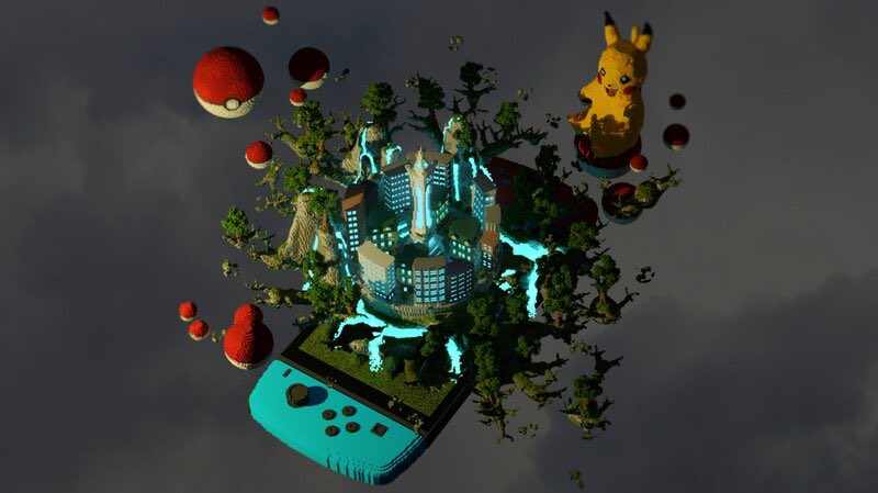 В Minecraft построили воздушный город в стиле стимпанка